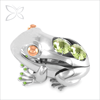 Good Quality Creative Sliver Plated Metal Frog Figurines