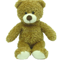 China made stuffed brown teddy bear soft toy