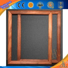 Good! Specialized african wood Types of wood pattern aluminum profile for picture frames