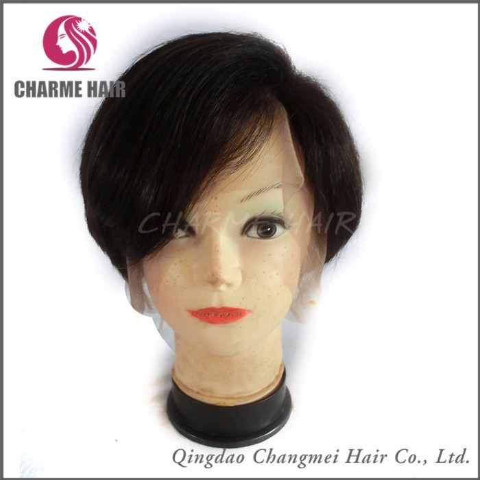High quality glueless short asian human hair full lace bob wig for elegant women