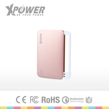 Wholesales Advertising CE Approved double usb 12000 Thin Rose christmas gift Type C Battery for mobile phone