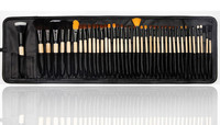 Natural hair big makeup brush set 40 piece for women make up