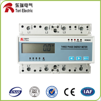 RS485 din rail energy meter with modbus REM series din rail type of KWH meter