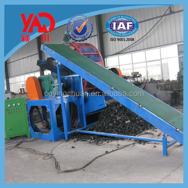 waste tire recycling machine/waste tire shredding plant/tire recycling plant china