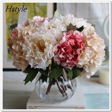 Silk Tea Rose High Qualit Artificial Flower Wedding Flower Bouquet Decorative For Home Room Decoration FZH027