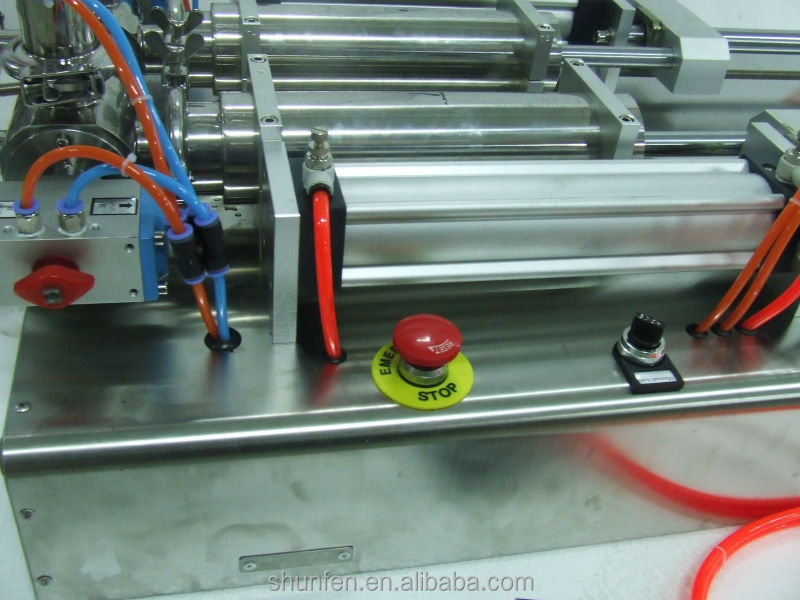 Semiauto Full Pneumatic Double-head cream Filling Machine Without electricity (paste filling machine for cheeze, sauce, oitnment