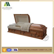 Wood casket with casket linings from alibaba china casket manufacturers