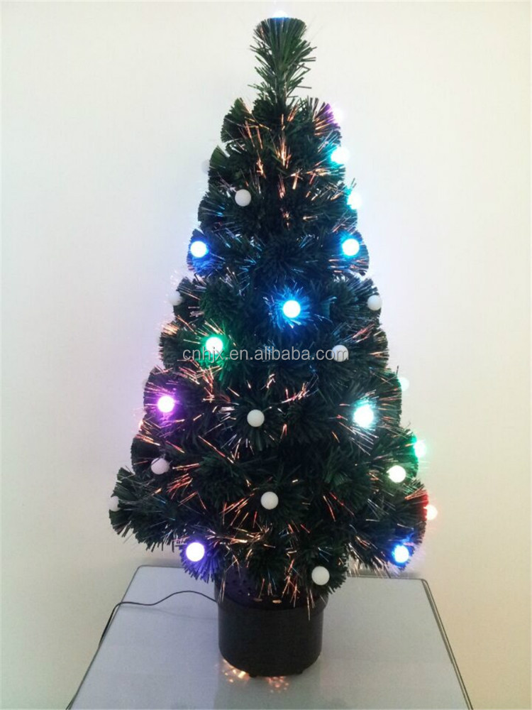Yiwu Professional Factory Sale, Color Changing Ball LED Artifical Christmas Tree Lights, Xmas Tree Ornament