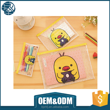 cartoon pattern pvc ziplock pencil bag free sample