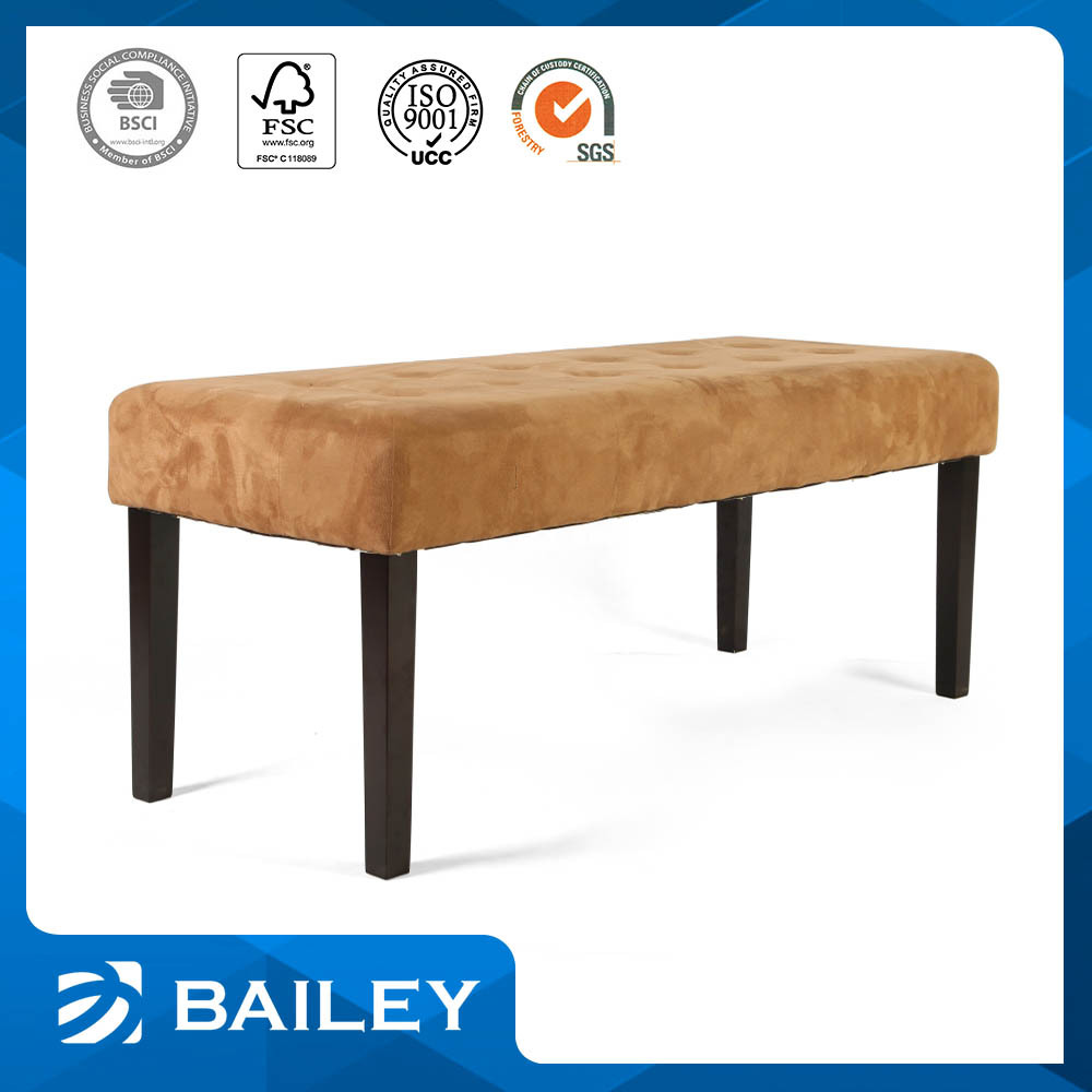 Advertising Promotion Elegant Top Quality Furniture Upholstered Chinese Garden Bench