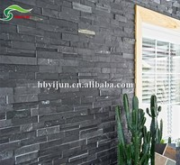 New design natural black slate rustic stone wall cladding