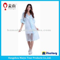 Maiyu eva material transparent clear raincoat women in plastic raincoats,women fashion sexy raincoat,plastic raincoat fetish