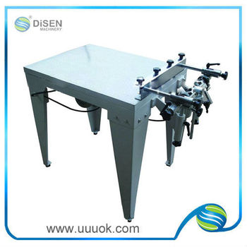 Vacuum flat screen printing machines