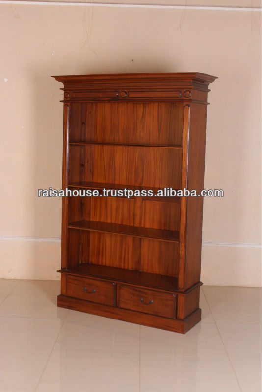 French Furniture - Victorian Open Front Bookcase