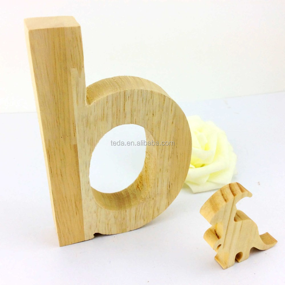 Home used wooden decorated letters of the alphabet
