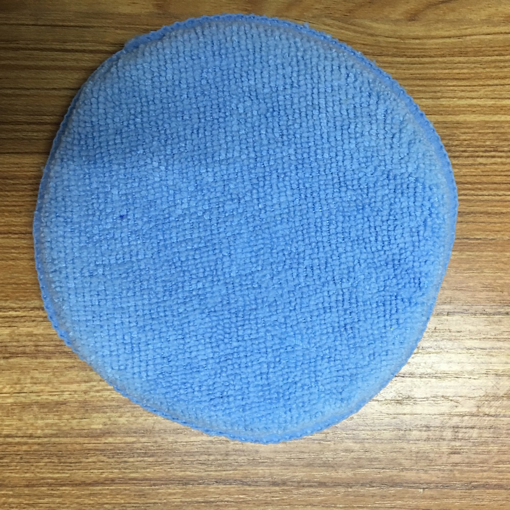 Soft Microfiber Foam Sponge Car Polishing Pad Wax Applicator Pad