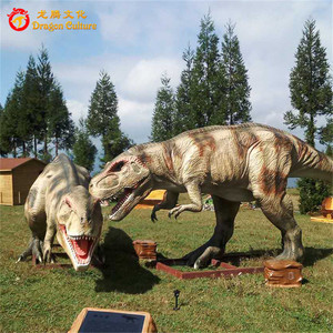 Playground equipment remote control realistic animatronic mechanical trex