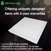 Shenzhen factory CE RoHS SAA 600X600 300X1200 36W 40w 72w 100W dimmable office led panel light