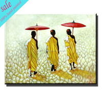 100% handmade modern african art paintings for home decoration