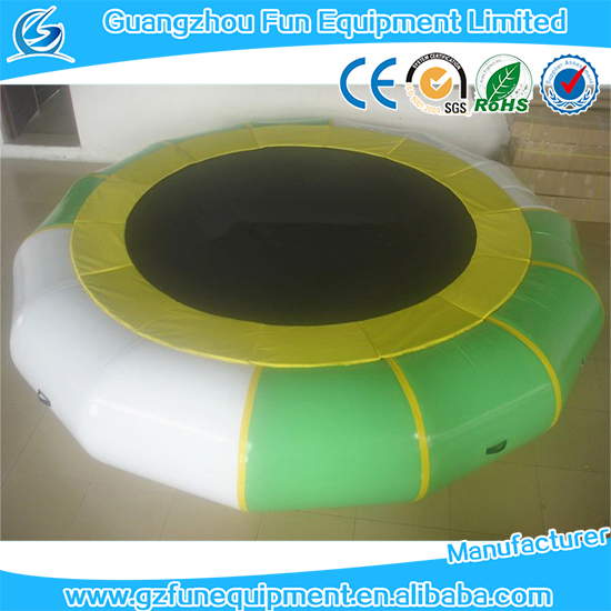 High quality inflatable water trampoline / water sport games for water park