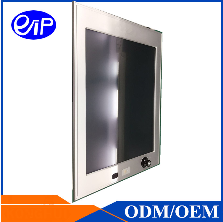 "<strong>19</strong>"" industrial panel PC embedded computer resistive touch screen PC industrial Linux IP65 front panel"