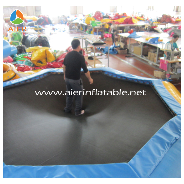5m air bag jumping bouncer/ inflatable trampoline for sale