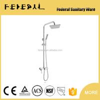 Widespread Wholesale And Retail Luxury Color Change Thermostatic Waterfall Rain Shower Faucet & Massage Jets & Hand Shower