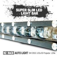 China car accessories Auto led light bar high lumens 40W 24 volt waterproof battery powered led light bar