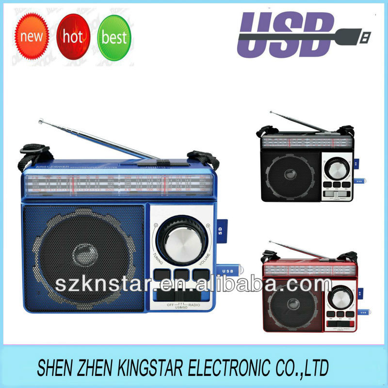 portable dual band radio player