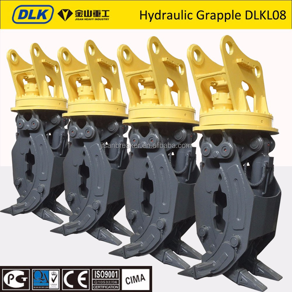 excavator rock grapple, rock grab, stone grapple for 20 tons excavator