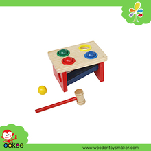 Wooden EN-71 Customized Punch and Roll 4 Balls Montessori Baby Foreign Kids Games New Toys for Kid 2016