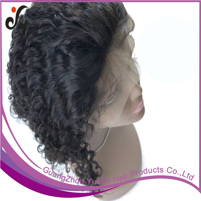 Wholesale Soft Virgin Indian deep wave full lace wig lace front wigs human hair guangzhou hair manufacturer