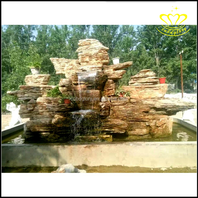 Classical Style Decorated Wall Water Cultural Natural marble Stone Waterfall Fountains