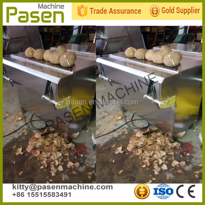 Good quality automatic coconut husk remover/coconut shell removing machine price/shelling machine for coconut