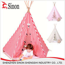 folding camping tent baby play wood frame tent