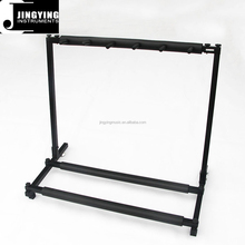 Factory Direct Sale Best Selling 5 Multiple Guitar Bass Stand Holder Stage Folding Multi Rack