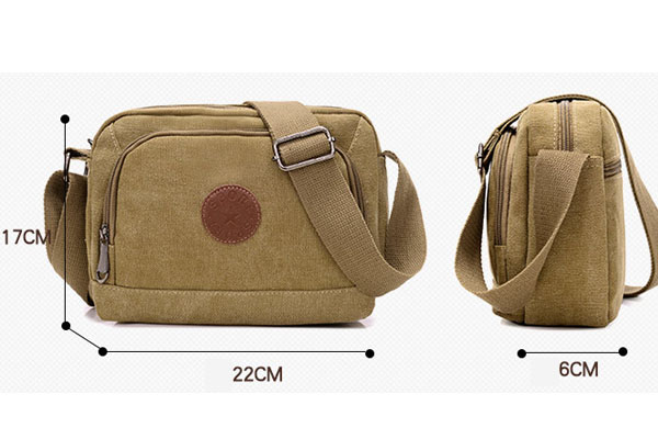 Promotion custom shoulder strap bag unisex small messenger bags canvas men