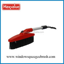 PET bristle snow brush with ice scraper