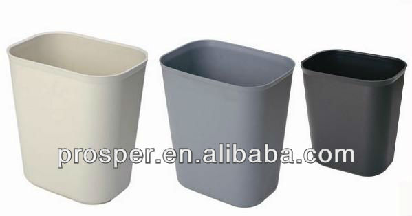 colorful plastic open top trash can / waste bin