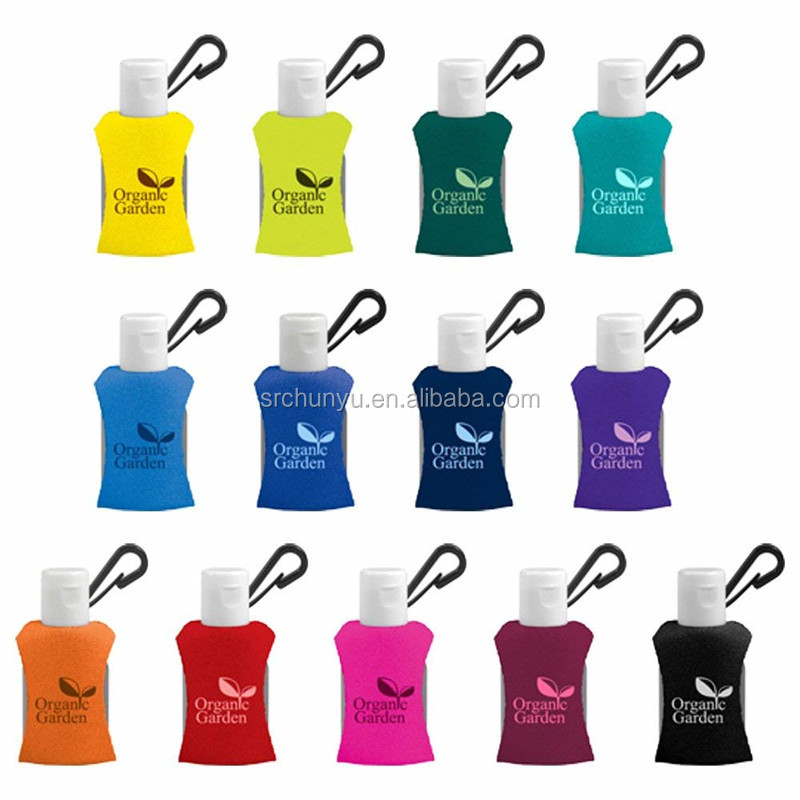 1 0.5 oz Pocket Travel Hand Sanitizer gel with neoprene Diving vest holder