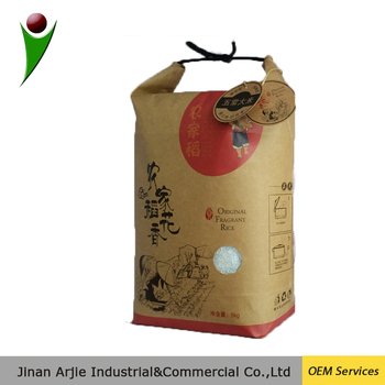 krfat paper rice bags with window
