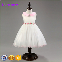 Kids Clothes With Satin Polyester Tutu Lolita Dress White Flower Girls Dresses Princess Ruffle Kids Dresses For Weddings C-34