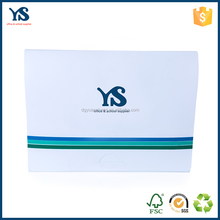 Factory price cheap office stationery white plastic box file size with handle