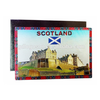 Scotland Building Fridge Magnet With Printed Paper Scotland Souvenir Fridge Magnet