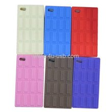 High Quality Chocolate Style Silicone Case for iPhone4