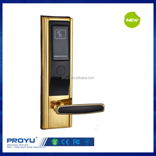 rfid hotel room keyless door lock with swipe key card reader function