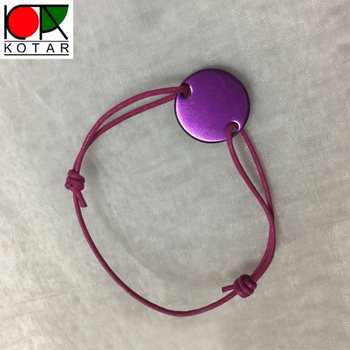 cheap round shape blank aluminium bracelet with anodizing plating