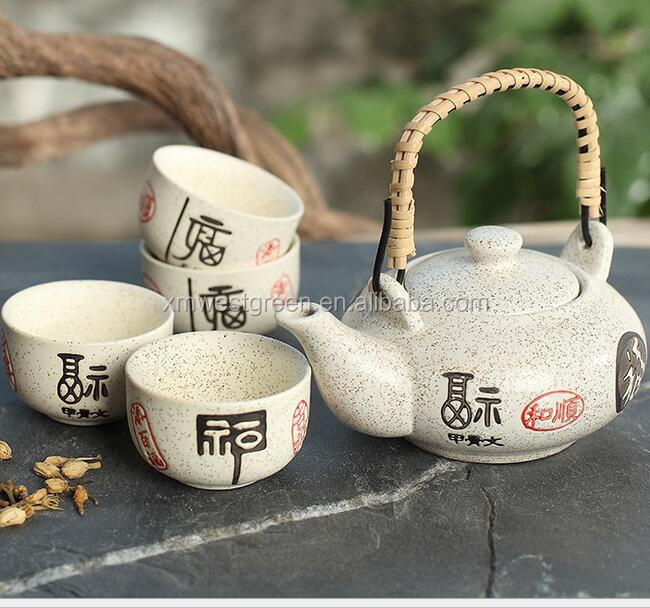 CTS-015 tea service ceramic japanese tea set,good quality tea pot with cup