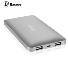 Baseus 10000mAh Dual USB Power Bank Portable Mobile Phone Charger For iPhone 7 6 6s for Xiaomi mi5 Red samsung External Battery
