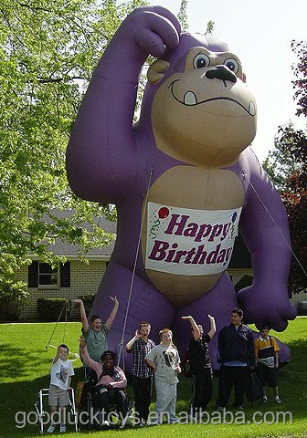 Giant inflatable Grape Ape for party